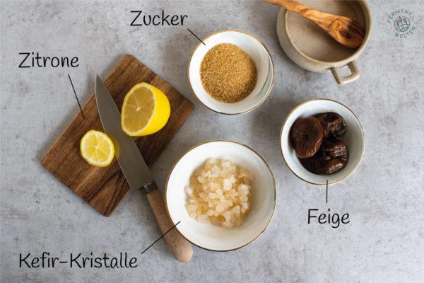 Zutaten für Wasserkefir
