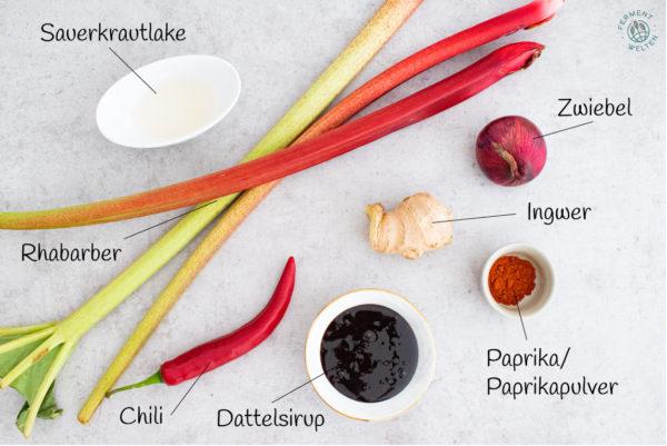 zutaten-fermentierte-rhabarbersalsa-mit-paprika-zwiebel-ingwer